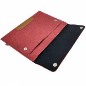 15,4 Zoll Hülle Schutztasche Tasche Sleeve Filztasche Leder-Tasche Laptoptasche für Acer MacBook Pro 16, Asus HP Laptop  Bild 2