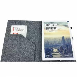 DIN A5 Einband Zeichenmappe Bucheinband Hefteinband für Kalender Notizbuch Schulheft / Geschenk für Sie Ihn Kind / Filzh Bild 3