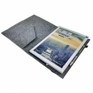 DIN A5 Einband Zeichenmappe Bucheinband Hefteinband für Kalender Notizbuch Schulheft / Geschenk für Sie Ihn Kind / Filzh Bild 6