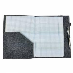 DIN A5 Einband Zeichenmappe Bucheinband Hefteinband für Kalender Notizbuch Schulheft / Geschenk für Sie Ihn Kind / Filzh Bild 7