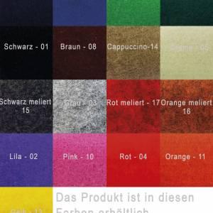 Täschchen Mini Hülle Tasche aus Filz für Zubehör Beutel für Kosmetik Kulturbeutel Gelb Bild 4