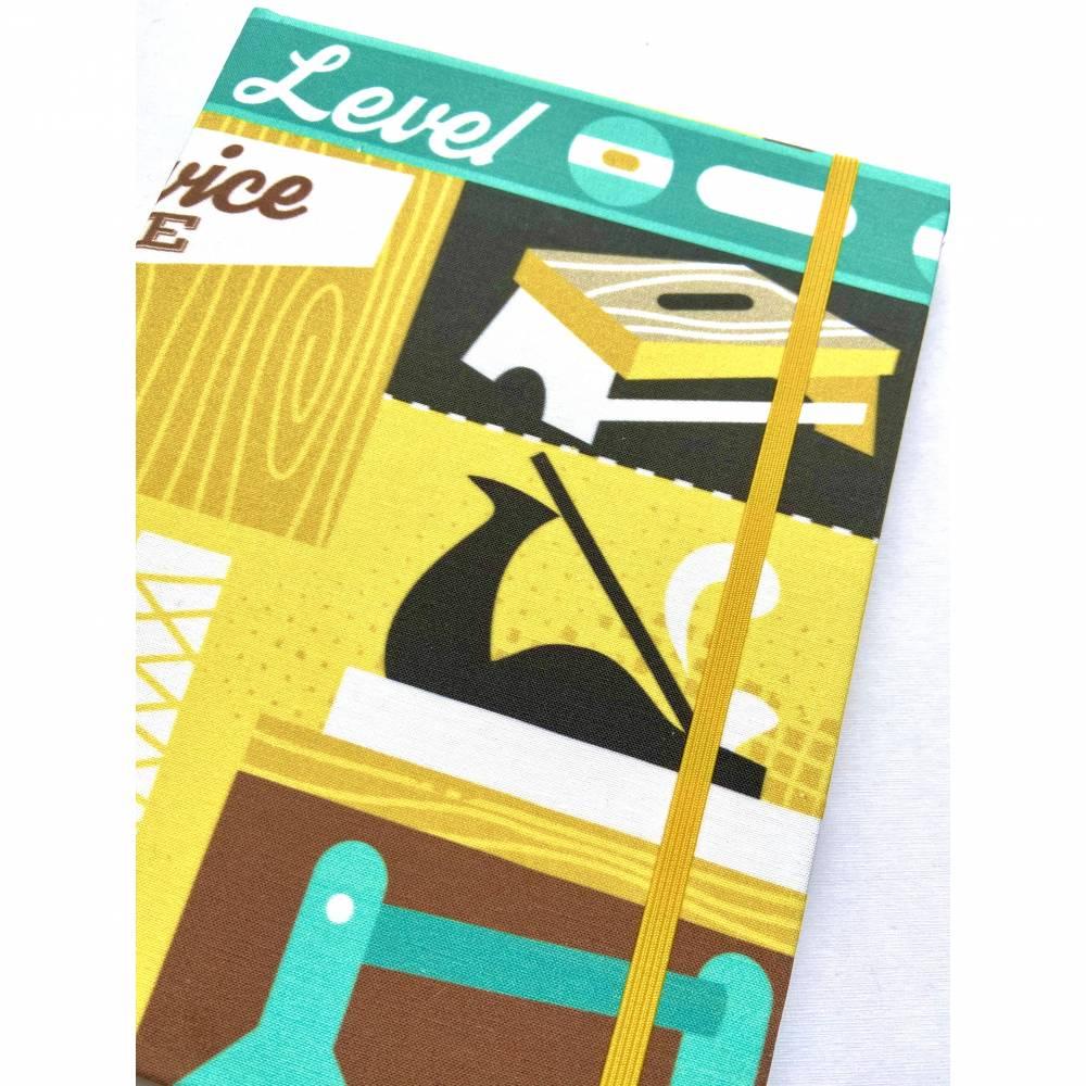 """Notizbuch Projektbuch """"Woodworking"""" Hardcover 17,5x23cm (ähnlich A5) stoffbezogen Holzarbeiten Schreiner Bild 1"""