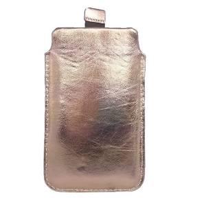 """5"""" Echtleder Tasche Hülle aus Leder Lederhülle Ledertasche Schutzhülle Einstecktasche, Goldig Bild 1"""