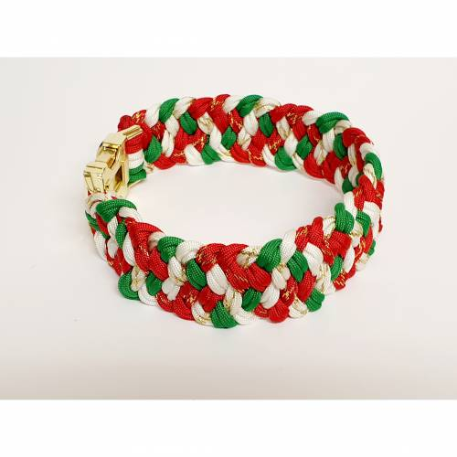 Weihnachtliches Halsband, Hundehalsband Weihnachten