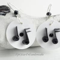 Ohrringe – Musikalische Papierkunst m. Silberhaken 925 Bild 1