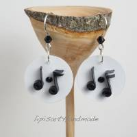 Ohrringe – Musikalische Papierkunst m. Silberhaken 925 Bild 2