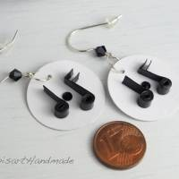 Ohrringe – Musikalische Papierkunst m. Silberhaken 925 Bild 4