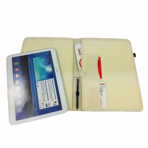 9,1 - 10,1 Zoll Tablethülle Schutzhülle Hülle aus Filz Tablettasche Etui Schutzhülle für Tablet, Creme Weiß