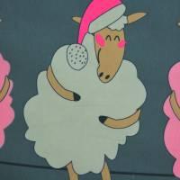 Jersey Bordürendruck Schafe Konfetti Tupfen Digitaldruck 50 x 150 cm Bild 4