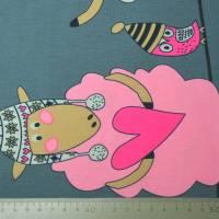 Jersey Bordürendruck Schafe Konfetti Tupfen Digitaldruck 50 x 150 cm Bild 5