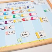 SP-004 magnetischer Stundenplan kariert mit 90 Magneten Organizer Termine Planen Stundenliste mit stabilen Holzrahmen Bild 8