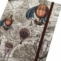 """Notizbuch/Reisetagebuch """"Vintage Map"""" Hardcover A5 stoffbezogen Landkarte Reise Weltreise Geschenk  Bild 1"""