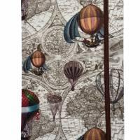 """Notizbuch/Reisetagebuch """"Vintage Map"""" Hardcover A5 stoffbezogen Landkarte Reise Weltreise Geschenk  Bild 2"""