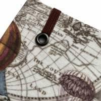 """Notizbuch/Reisetagebuch """"Vintage Map"""" Hardcover A5 stoffbezogen Landkarte Reise Weltreise Geschenk  Bild 5"""