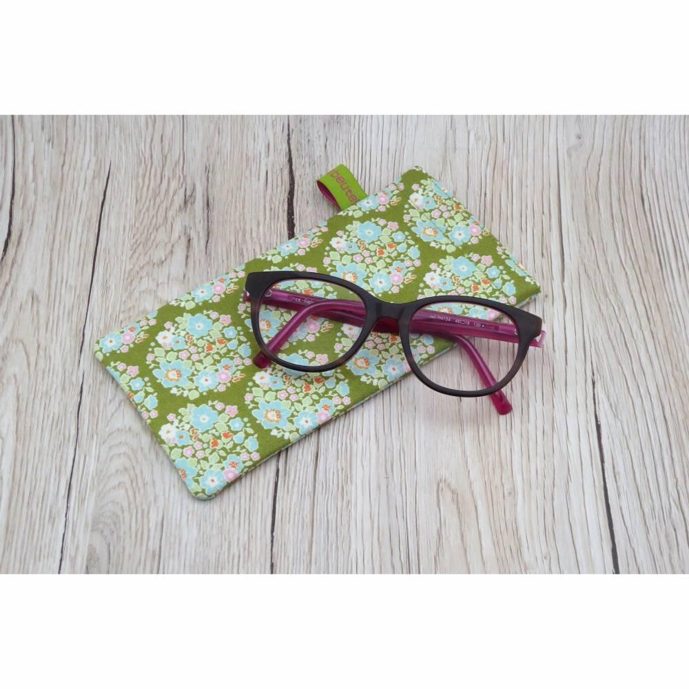 Brillenetui mit Schnappverschluss - Sonnenbrillen - Lesebrillen - Blumenbouquets Bild 1