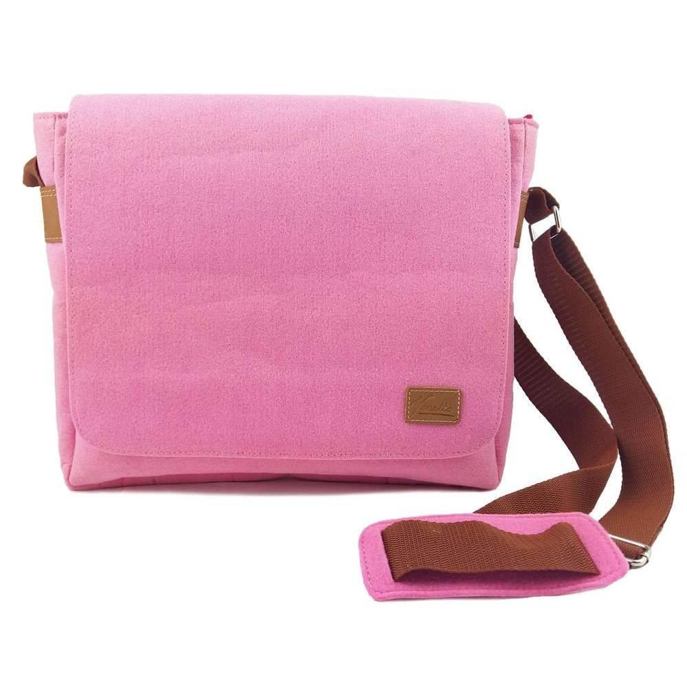Umhängetasche Freizeit Schultertasche Tasche aus Filz Filztasche Handtasche Pink Bild 1
