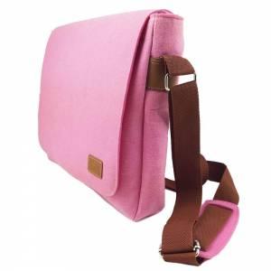 Umhängetasche Freizeit Schultertasche Tasche aus Filz Filztasche Handtasche Pink Bild 2