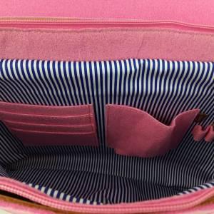 Umhängetasche Freizeit Schultertasche Tasche aus Filz Filztasche Handtasche Pink Bild 5