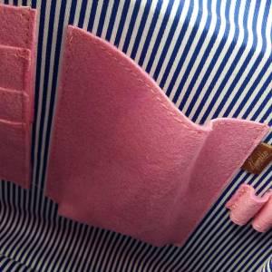 Umhängetasche Freizeit Schultertasche Tasche aus Filz Filztasche Handtasche Pink Bild 6
