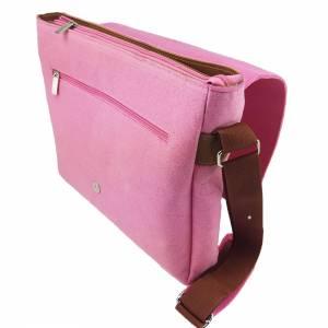 Umhängetasche Freizeit Schultertasche Tasche aus Filz Filztasche Handtasche Pink Bild 8