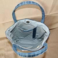 Handtasche, Jeans, Upcycling, Spitze Bild 5