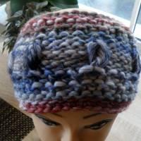 Stirnband für Frauen und Mädchen - handgestrickt Bild 1