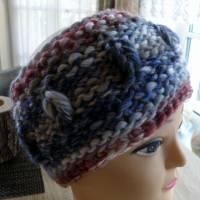 Stirnband für Frauen und Mädchen - handgestrickt Bild 3