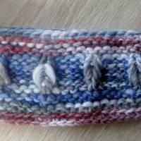 Stirnband für Frauen und Mädchen - handgestrickt Bild 6