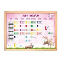 SP-007 magnetischer Stundenplan Einhorn rosa mit 90 Magneten Organizer Termine Planen Stundenliste Bild 2