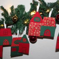 Adventskalender Weihnachtsdorf Winterdorf Adventsdorf Adventshäuser Häuser  Stoffhäuser Advent Weihnachten zum befüllen Bild 6