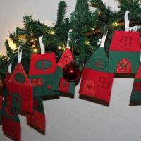 Adventskalender Weihnachtsdorf Winterdorf Adventsdorf Adventshäuser Häuser  Stoffhäuser Advent Weihnachten zum befüllen Bild 7
