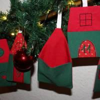 Adventskalender Weihnachtsdorf Winterdorf Adventsdorf Adventshäuser Häuser  Stoffhäuser Advent Weihnachten zum befüllen Bild 8