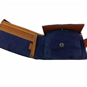 Geldbörse Portemonnaie Geldtasche Portmonee Blau Bild 4