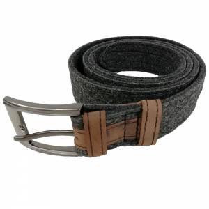 Gürtel aus Filz, Filzgürtel für Damen, Herren. Ledergürtel 85 - 145 cm Hüftumfang. Grau Schwarz Blau. Bild 2