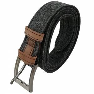 Gürtel aus Filz, Filzgürtel für Damen, Herren. Ledergürtel 85 - 145 cm Hüftumfang. Grau Schwarz Blau. Bild 3