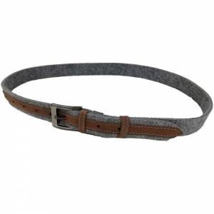 Gürtel aus Filz, Filzgürtel für Damen, Herren. Ledergürtel 85 - 145 cm Hüftumfang. Grau Schwarz Blau. Bild 4