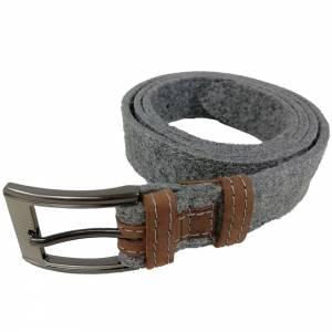 Gürtel aus Filz, Filzgürtel für Damen, Herren. Ledergürtel 85 - 145 cm Hüftumfang. Grau Schwarz Blau. Bild 5