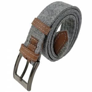 Gürtel aus Filz, Filzgürtel für Damen, Herren. Ledergürtel 85 - 145 cm Hüftumfang. Grau Schwarz Blau. Bild 6