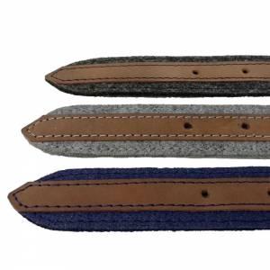 Gürtel aus Filz, Filzgürtel für Damen, Herren. Ledergürtel 85 - 145 cm Hüftumfang. Grau Schwarz Blau. Bild 7