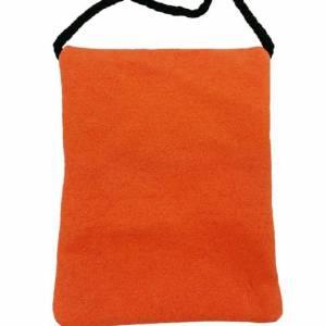 Brusttasche Reisetasche Tasche für Geld Handy Dokumente Filztasche Geldbeutel Portemonnaie aus Filz, Orange Bild 3