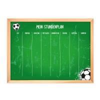 SP-010 magnetischer Stundenplan Fußball grün mit 90 Magneten Organizer Termine Planen Stundenliste Bild 1