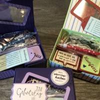 Geburtstagskuchen-Bausatz mit Konfetti, Kerze und Spitzendeckchen für den Geburtstagskuchen To Go - Tropenreise Bild 7