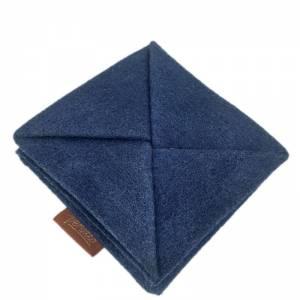 Faltbar Mini Portemonnaie Geldbörse Geldtasche wallet Kinder-Börse handgemacht aus Filz blau Bild 1