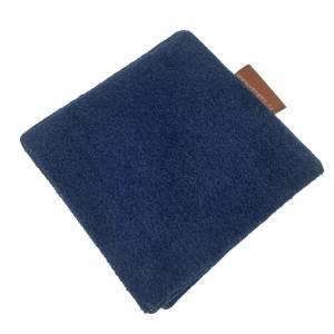 Faltbar Mini Portemonnaie Geldbörse Geldtasche wallet Kinder-Börse handgemacht aus Filz blau Bild 5