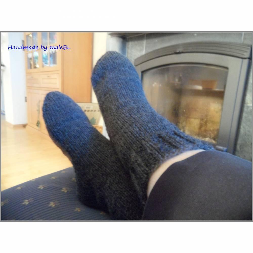 Kuschelsocken, Wollsocken, Socken gestrickt Gr 39-40-41-42-43-44-45-46 Bild 1