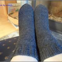 Kuschelsocken, Wollsocken, Socken gestrickt Gr 39-40-41-42-43-44-45-46 Bild 2