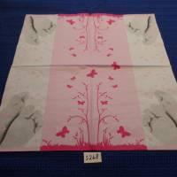 5 Servietten / Motivservietten / Füsse / Blumen / Schmetterlinge  rosa  Sonstige Motive S 268 Bild 2
