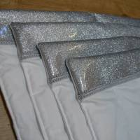Bandagierunterlagen - 4er Set - Glitzersilber - Gr. VB und WB  Bild 1