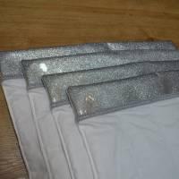 Bandagierunterlagen - 4er Set - Glitzersilber - Gr. VB und WB  Bild 2