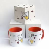 Kaffeetasse Schutzengel Bitte Bleib gesund Corona Motivation Rot Geschenkkarton  EInführungspreis Bild 5
